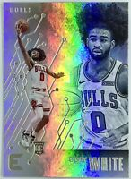 2019-20 PANINI Coby White Silver Rookie RC Refractor CHRONICLES ESSENTIALS Bull