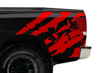Custom Vinyl Rear Decal RIPPED Wrap Kit for Nissan Titan Truck 2004-2013 RED