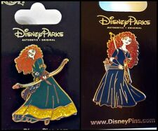 Disney Parks 2 Pin Lot BRAVE Merida with bow + Merida standing new on cards