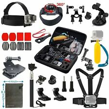 GoPro Hero Action Camera Accessories Bundle Kit Carry Case Monopod Harness Strap