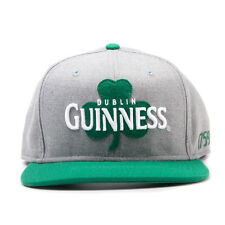 AWESOME GUINNESS DUBLIN CLOVER LEAF GREY SNAPBACK CAP HAT *BRAND NEW*