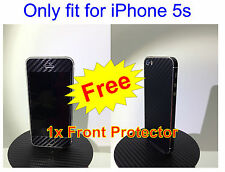 iPhone 5s 3M 3D Black Carbon Fiber Full Body Skin sticker