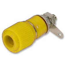 Binding Post Terminal Speaker Amplifier Test Plug Socket Connector - Yellow