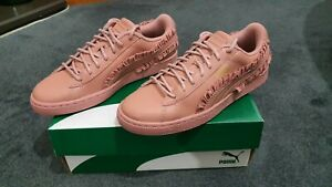 Womens Puma Basket Classic Frill Cameo Brown Trainers  RRP £69.99