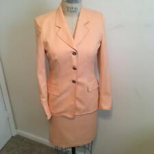 Escada Peach 100% Cashmere Jacket Skirt & Dress 3-Piece Suit  36