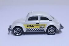 MATCHBOX 1962 VW VOLKSWAGEN BEETLE VERY NICE WHITE TAXI YELLOW STRIPE