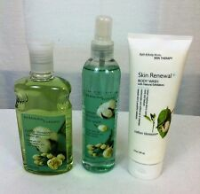 """Set of 3 Bath and Body Works """"Cotton Blossom"""" Body Wash,Spay,Shower Gel (#1)"""