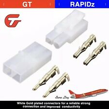 1 Pair RC 7.2v Tamiya Battery Male Female Connector Plug Full Set *GOLD PLATED*