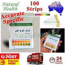 PH TEST STRIPS ALKALINE LITMUS PAPER URINE SALIVA HEALTH INDICATOR 100 PER PACK