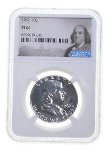 1962 PF66 Proof Franklin Half Dollar NGC Graded - White Coin Spot Free PR *0761