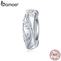 BAMOER Authentic S925 Sterling silver Charm Vineleaf Fit Women Bracelet Jewelry