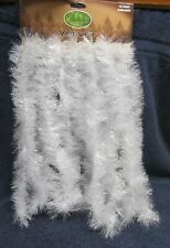 New White Iridescent Snow Tinsel Garland 18 feet Christmas Nip Enchanted Forest