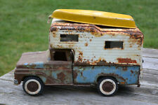 Vintage Rat Rod Patina Monster Tonka Pick Up Truck Camper & Boat Toy