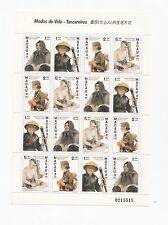 China Macau Macao 1997 Boat People Full stamp Sheet Shetlet MNH