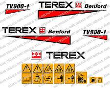 Terex Albert Benford Roller TV900 Decalcomanie Adesivi