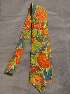 Vintage Bananna Republic USA men's Tie Floral  Safari & Travel Co cotton fabric