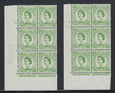 Great Britain Sg 580 Mnh. 1958 7p Wilding Cylinder Blocks of 6, 2 different