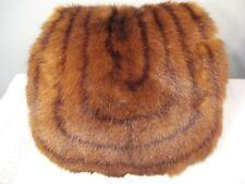 Vnt Mink Hand Warmer Muff Silk Back Zippered Pocket Unusual Design 12 x 12 EC