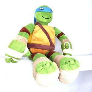 "Nickelodeon Teenage Mutant Ninja Turtles Plush 2015 Leonardo Time Pal Pillow 24"""