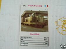 24 EK LOKS C1 SNCF FRANCE KLAS 66000 TRAIN TREIN KWARTET KAART,