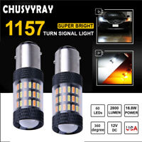 1157 Dual Color Switchback White/Amber LED Turn Signal Light High Power 2800LM