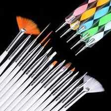 20pc Nail Art Design Painting Dotting Detailing Pen Brushes Bundle Tool Kit Set