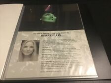 Wicked The Musical London Kerry Ellis A4 Standby/Played By Sheet/Card