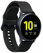 Samsung Galaxy Watch Active2 40mm Aluminum Case with Sport Band - Aqua Black