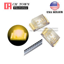 100PCS 0402 (1005) SMD SMT LED Yellow Light Emitting Diodes Ultra Bright USA