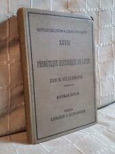 phonétique historique du latin par Niedermann chez Klincksieck