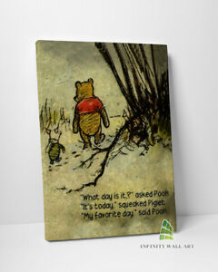 Winnie the Pooh Quote Canvas Art Disney Canvas Print Wall Art Photo Picture-C425