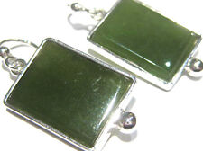 orecchini giada verde russia - jade earrings