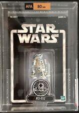 RARE 2002 Star Wars R2-D2 Action Figure *ERROR* LEFT LEG REVERSED! (AFA 80)