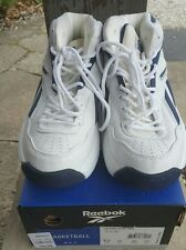 Reebok Classic BB4600 High top White/Navy US Size 7 1/2 NIB Box Vintage 90's NOS