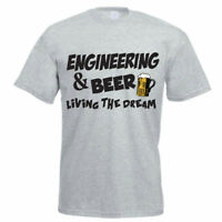 Funny Engineer T-Shirt - ENGINEERING AND BEER - Men's / Dad's T-Shirt Gift Idea