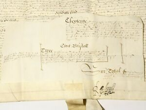 1599 Elizabeth I Robert Cecil Signed Right of Marriage Document Important #T142F
