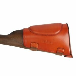 Tactical Buttstock Cheek Rest Leather Pad Protection Shotgun Shooting Hunting