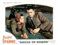 OLD MOVIE PHOTO Badge Of Honor Lobby Card Ruth Hall Buster Crabbe 1934