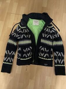 Abercrombie And Fitch thick knitted jumper / jacket Wool Cotton