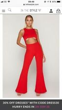 IN THE STYLE - TAMMY HEMBROW Cut Out Jump Suit size 6
