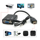 HDMI Male to VGA With Audio HD Video Cable Converter Adapter 1080P for PC US