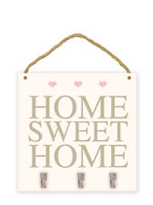 Home Sweet Home Key Holder Wooden Plaque Hanging Home Decoration Gift House Pegs
