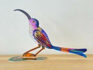 """Pop art Metal """" Curious Bird  """"  sculpture hand painted by DAVID GERSTEIN"""