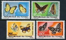 Chad: 1967 Butterflies (139-142) MNH
