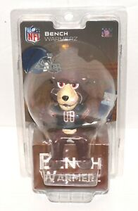 "NFL Bench Warmerz Chicago Bears Staley Da Bear Mascot 4"" Mini Bobblehead READ"