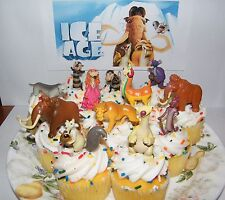 Ice Age Movies Cake Toppers Set of 13 Figures with Sid, Manny, Scat, Diego Etc