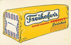 Freihofers Enriched Bread Ink Blotter Vintage Advertising