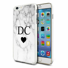 Personalised Marble Phone Case Cover for Apple Samsung Initial Text Name - 02