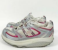 SKECHERS Shape Ups Walking Toning Shoes 11814 White Gray Pink Women's Sz 8.5