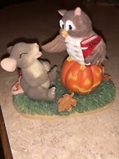 Retired Charming Tails What A Hoot! 85/101 Dean Griff Owl Telling Jokes To Mouse